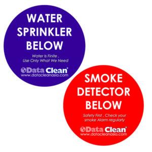 Smoke and Sprinkler Detector Labels
